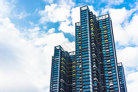 现代住宅公寓背景图片
