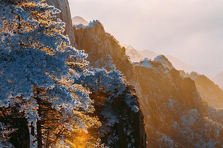 雪后黄山图片