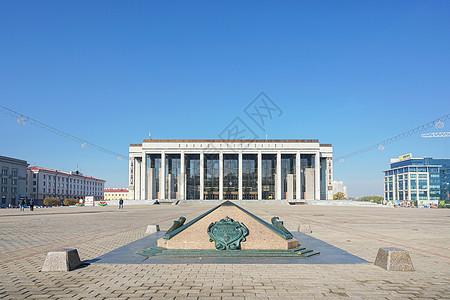 白俄罗斯明斯克市政厅图片