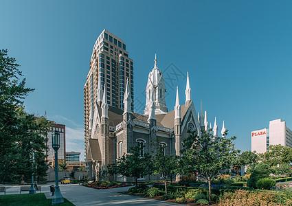 美国犹他州首府盐湖城教堂图片