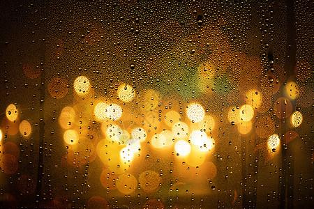 雨夜窗子光斑图片