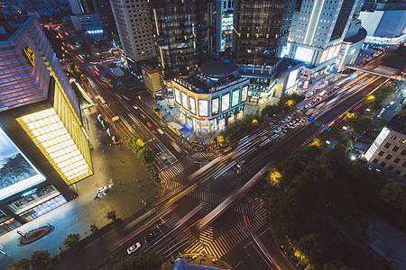 上海浦东街头夜景图片