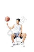 篮球运动员转球图片