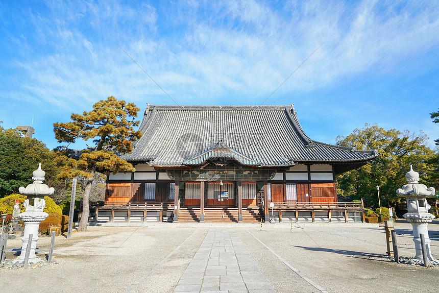 日本日式寺庙庭院图片