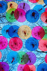 雨伞装饰图片