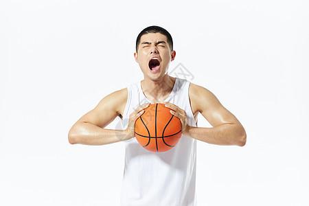 篮球运动员庆祝呐喊图片