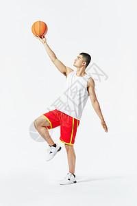 篮球运动员上篮动作图片
