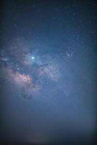蓝色夜空下的银河图片