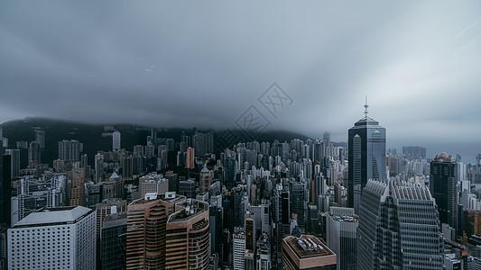 雨中香港图片