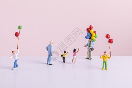 六一儿童节创意微距小人图片