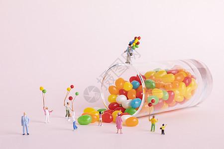 六一儿童节创意小人图片