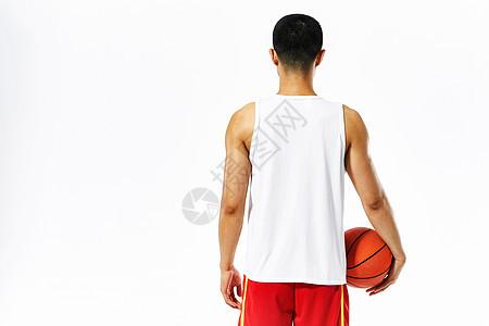 篮球运动员背影图片