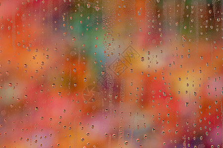雨夜玻璃图片