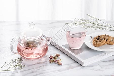 花茶与茶壶图片