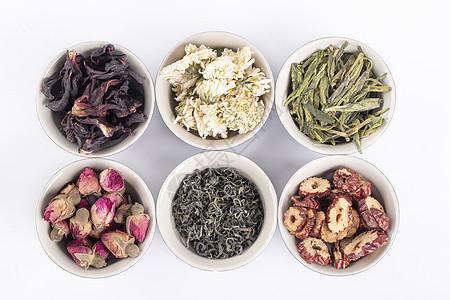 各种类茶叶白底图片