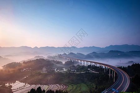重庆市周家山大桥日落图片