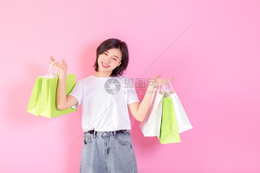 活力女性手提购物袋图片