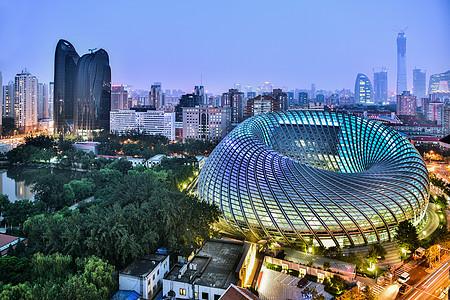 北京凤凰传媒中心夜晚全景图片