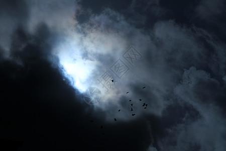 恐怖片气氛乌云图片