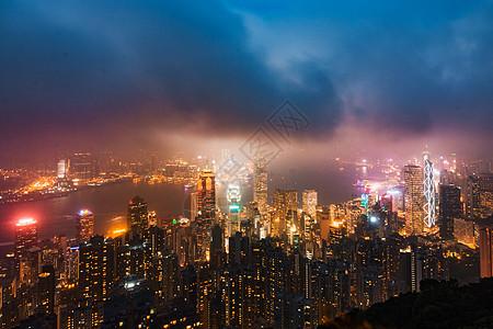 香港建筑夜景picture