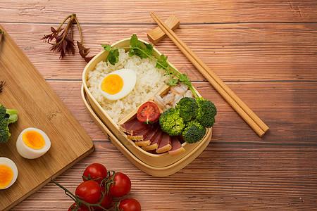 日式腊味便当图片