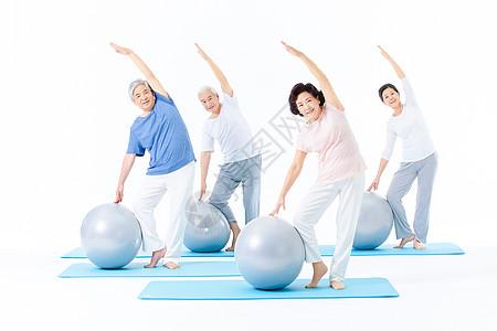 老年人瑜伽图片