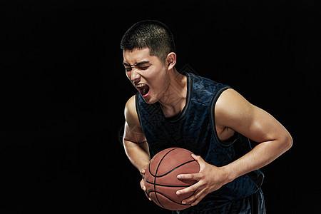 篮球运动员欢呼呐喊图片