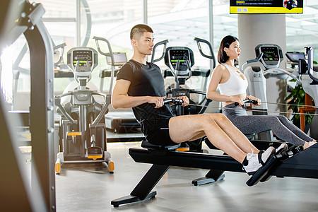 健身运动男女图片