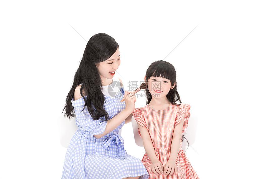 化妆母女图片