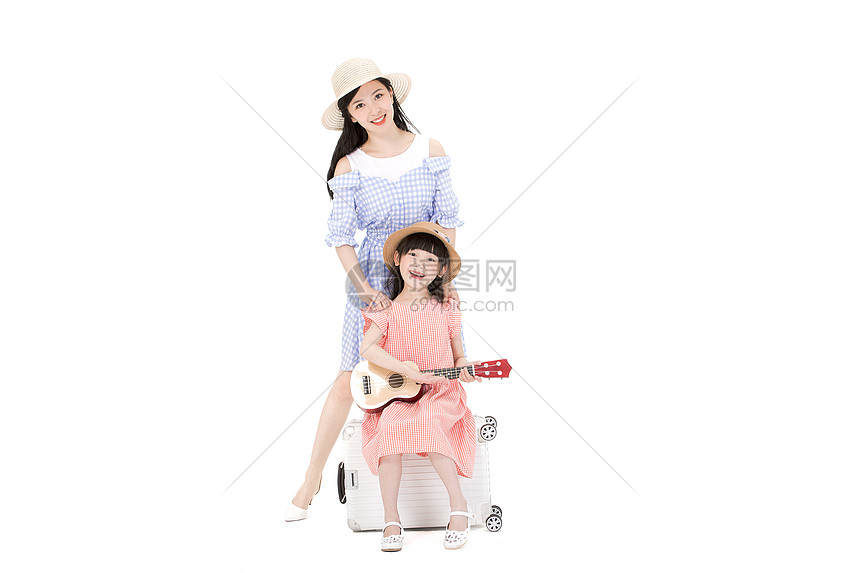 可爱母女一起旅游图片