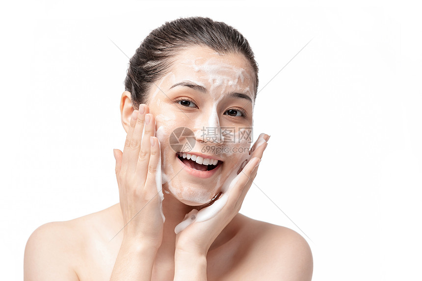 女士护肤洗脸图片