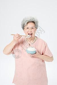 老人吃饭图片