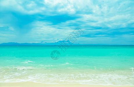 夏至沙巴美人鱼岛海滩图片