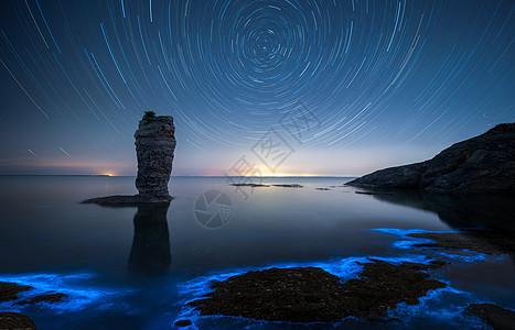 星空星轨银河自然风光图片
