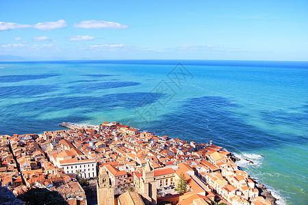 意大利西西里岛切法卢风景图片