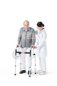 护工照顾老人图片