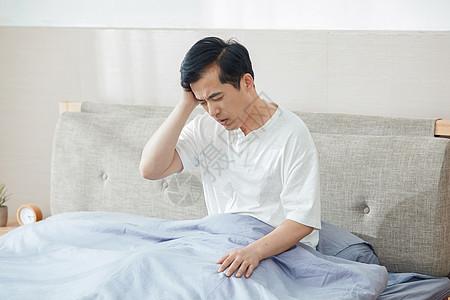 中年男士失眠头痛图片