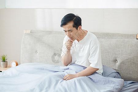 中年男士咳嗽图片