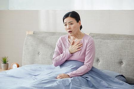 中年女性哮喘图片