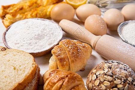 烘焙面包早餐图片