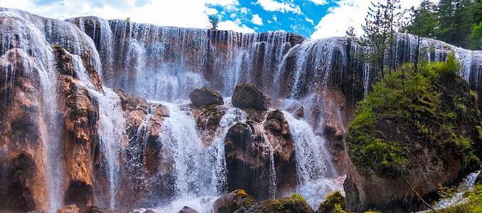 九寨珍珠滩瀑布图片