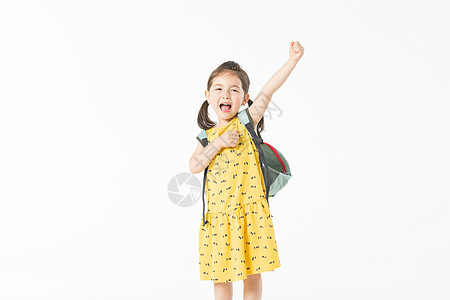 外国儿童开心上学图片