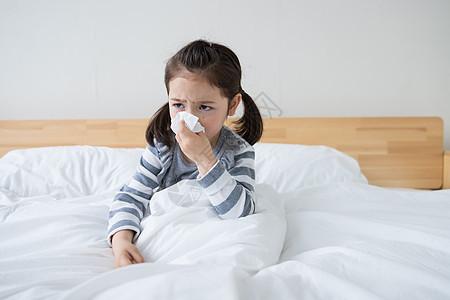 外国儿童生病图片