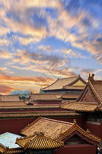 北京故宫博物院宫殿屋檐图片