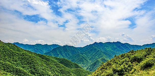 秦岭徒步观大美风光图片