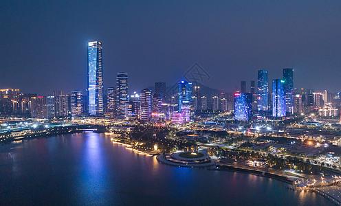 中国广东省深圳市南山区人才公园航拍图片