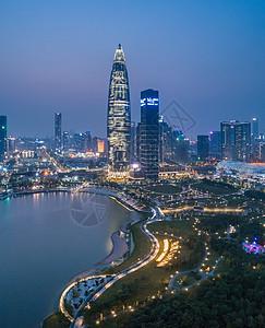 、广东省深圳市南山区人才公园航拍图片