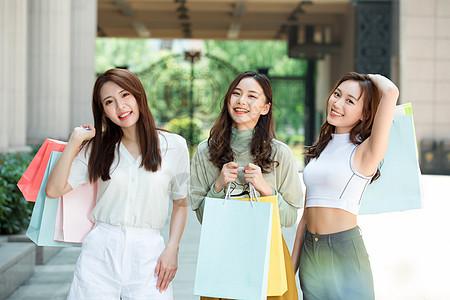 闺蜜购物逛街图片