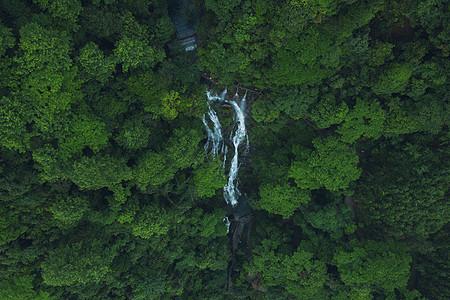 桂林黄沙瀑布航拍图片