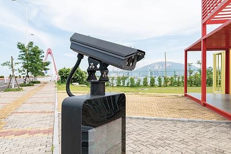 停车场出入库的监控摄像头图片